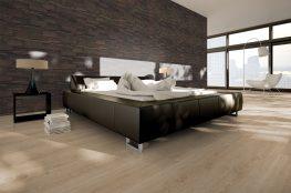 Hochwertige Wandverkleidung aus Holz